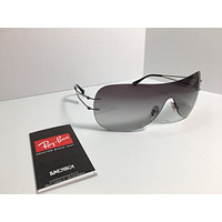 mieniwe? NEW Ray Ban RB 8057 159/11 Silver Titanium Shield LightRay Sunglasses