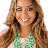 On The Sea Necklace: Mint