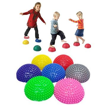 Funny Balance Ball Physical Fitness Exercise Outdoor Sport Toys For Children Kids Game Durian Yoga Balls Training Equipment (1pc Random Color)