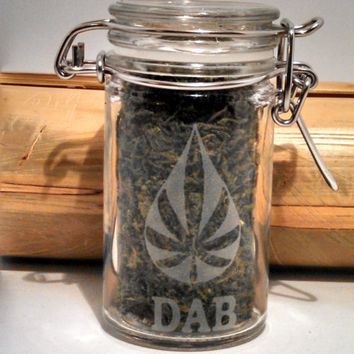 Stash Jar - Dab Jar- Free UPGRADE to Priority Mail within the US