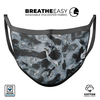 Abstract Paint v4 - Made in USA Mouth Cover Unisex Anti-Dust Cotton Blend Reusable & Washable Face Mask with Adjustable Sizing for Adult or Child