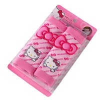 one pair hello Kitty Seat Safe Belt Covers Set Car Styling Safety Accessories