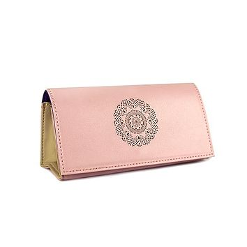 Looking Good Leather Sunglasses Case -Rose