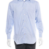 Kiton Plaid Button-Up