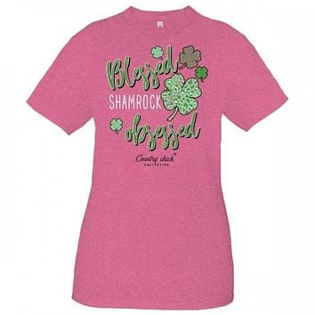 Country Chick By Simply Southern Blessed St. Patrick's Day Irish T-Shirt