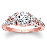 "Barkev's Diamond Encrusted ""Petal"" Engagement Ring"