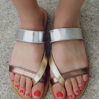 Find Your Way Sandal - Metallic