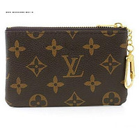 LOUIS VUITTON COIN PURSE BROWN KEY HOLDERS 001WALLET