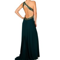 Sale-cleopatra- Emerald Homecoming Dress