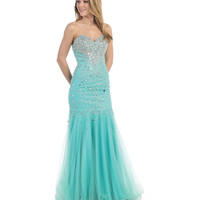 Mint Sweetheart Strapless Fitted Sequin Dress 2015 Prom Dresses