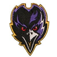"Baltimore Ravens (FACE) Iron On Patch 2"" X 2.75"" Embroidered Team Logo"