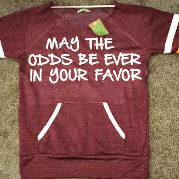 May The Odds Be Ever in Your Favor - Hunger Games - Eco Fleece Sweatshirt - Ruffles with Love