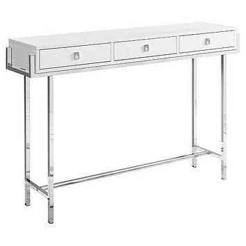 """White, Particle Board, Metal - Accent Table 12"""" x 48"""" x 31'.75"""""""