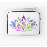 Abstract Colorful Lotus Flower by Chandler Milillo
