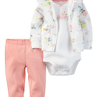 3-Piece Babysoft Cardigan Set