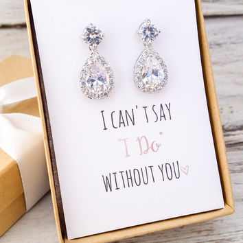 Bridesmaid Drop Earrings