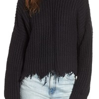 Wildfox Palmetto Frayed Sweater | Nordstrom