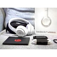 Beats Solo 3 Wireless Magic Sound Bluetooth Wireless Hands Headset MP3 Music Headphone with Microphone Line-in Socket TF Card Slot 4#