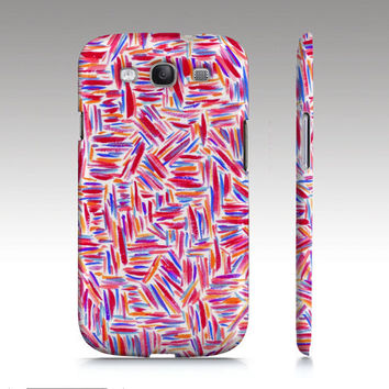 Samsung Galaxy S3 case, Samsung Galaxy S4 case, colorful watercolor painting abstract brush stroke design, fashion, art for your phone