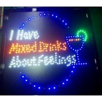 Mixed Drinks About Feelings LED sign