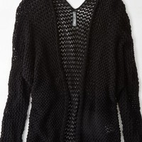 AEO Women's Don't Ask Why Open Knit Cardigan