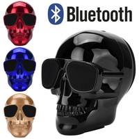 Fashion Plating Skull Protable Wireless Bluetooth Stereo Speaker With HD Sound and Bass Mobile Portable Radio