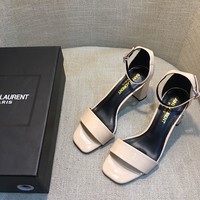 YSL Saint Laurent Women's Leather High-heeled Sandals