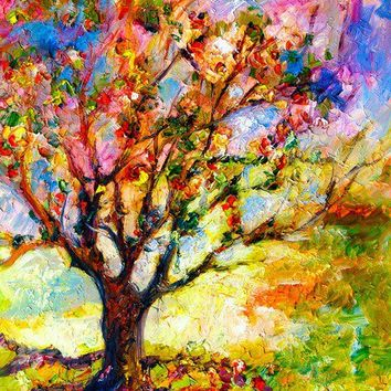 Abstract Grandmas Apple Tree by Ginette Art Prints by Ginette  Fine Art - Shop Canvas and Framed Wall Art Prints at Imagekind.com