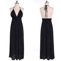 Halter High Waist Maxi Dress