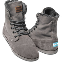 ASH CANVAS SUEDE UTILITY BOOT