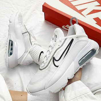 Nike Air Max 2090 New Women Men Fashionable Sport Running Shoes Sneakers White