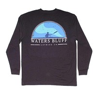 Paddler Long Sleeve Tee in Charcoal by Waters Bluff