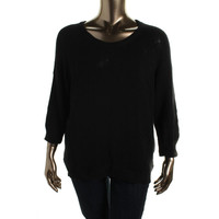 NY Collection Womens Plus Knit Raglan Sleeves Pullover Sweater