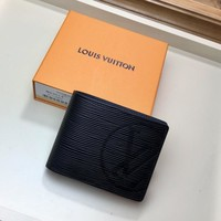 Kuyou Lv Louis Vuitton Gb1978 M63514 Black Epi Initials Multiple Short Wallet 11.5 X 9.0 X 1.5 Cm