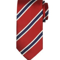 All Silk Red/White/Blue Handmade Tie Monkey Suits