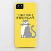 Purrfectly Honest iPhone & iPod Case by David Olenick