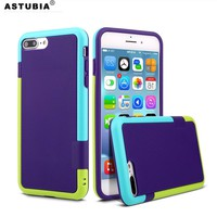 For iPhone 7 Case Matte ARMOR Silicone Hybrid Gel Soft Cover For Apple iPhone 5 5S SE 6 6S Plus Case Brand Original Phone Bags