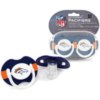 Denver Broncos NFL Baby Pacifiers (2 Pack)