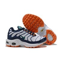 Nike Air Max Plus White Navy Orange Child Sneaker Toddler Kid Shoes - Best Deal Online