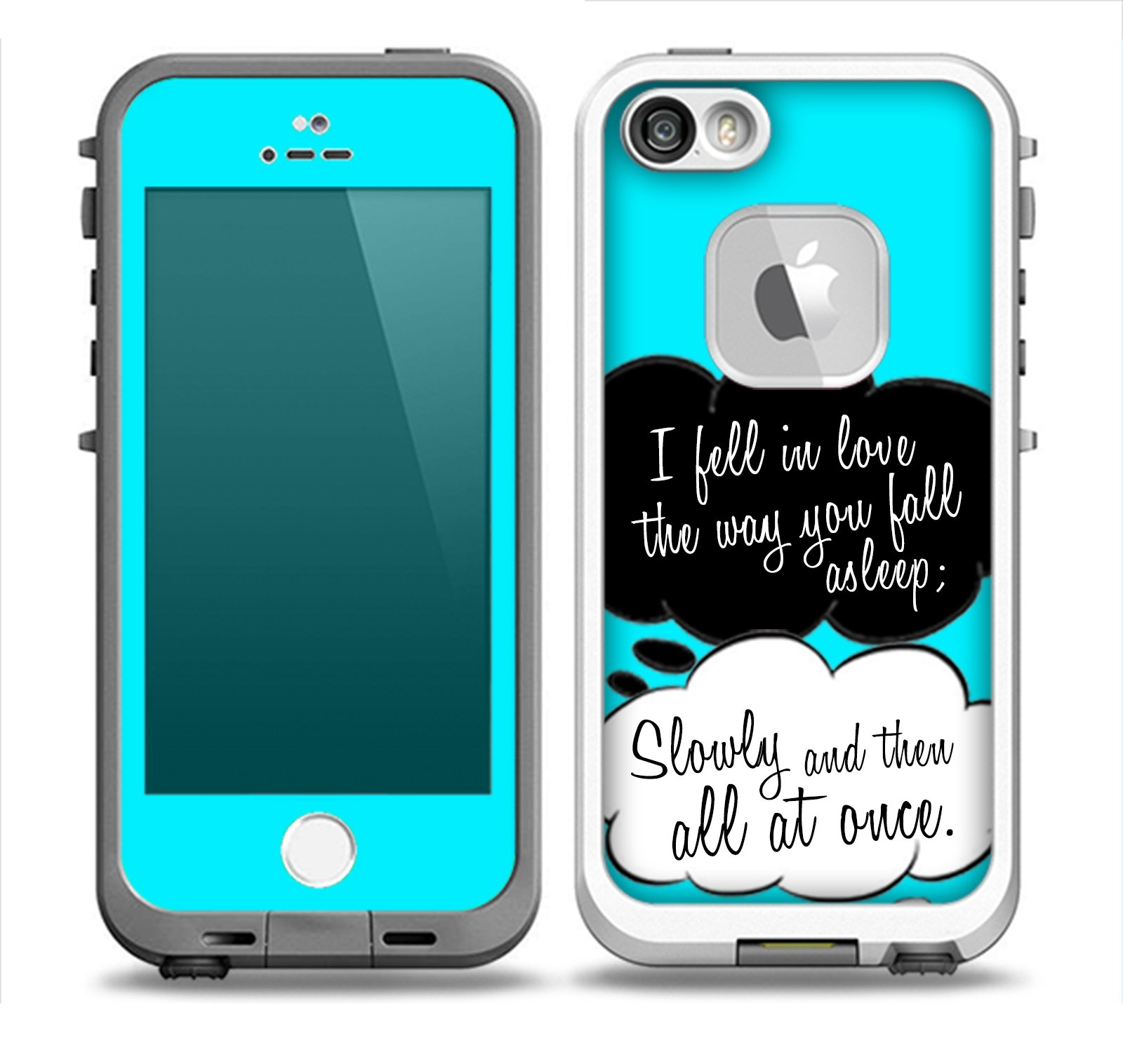Image of The Okay Speech Bubbles V5 LOVE Skin for the iPhone 5-5s Fre LifeProof Case