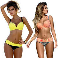 Bikini 2017 Swimwear Female S-XL Sexy Push Up Swimwear Women Two Piece Swimsuit Split Bikini Set Biquini Plavky Brazilian Bikini