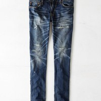 AEO Men's Slim Jean (Medium Bright Destroy)