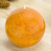 Burnt Orange Ball Candle 4""