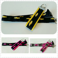 Fashion lanyard, badge holder, or keychain inspired by Chevy