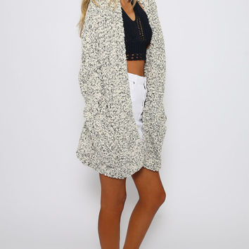 Ragged Robin Cardigan - Grey