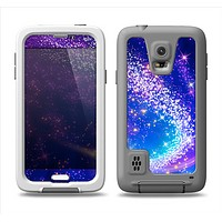 The Glowing Pink & Blue Comet Samsung Galaxy S5 LifeProof Fre Case Skin Set