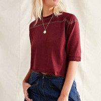 Vintage Contrast Stitch Football Tee | Urban Outfitters