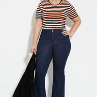 Plus Size Flared Jeans (Short) | Forever 21 PLUS - 2000181121