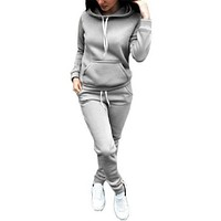hirigin 2018 Women two piece set tracksuit for women elegant top and pants set womens casual sweat suits fitness summer outfits