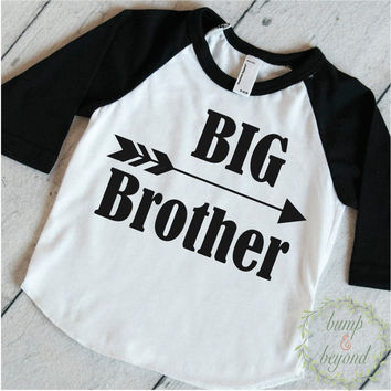 Big Brother Shirt Baby Announcement Shirt Boy Sibling Shirts New Baby Announcement Shirt Big Brother Raglan Arrow Hipster Shirt 108
